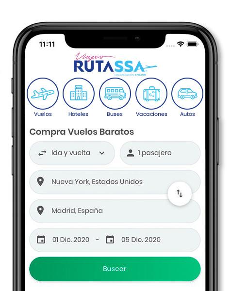 App Viajes Rutassa